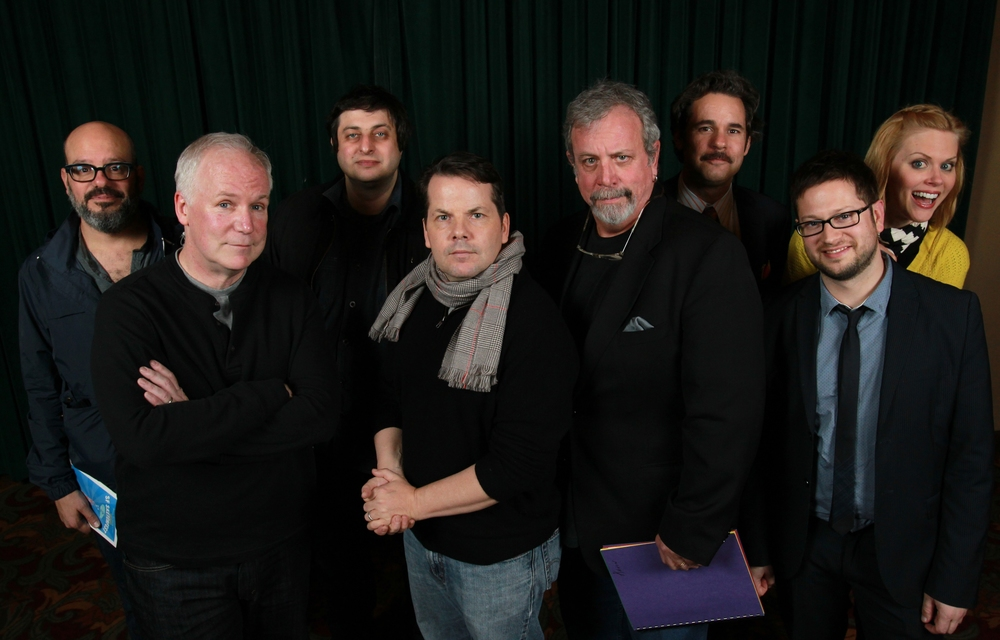 David Cross, Bill Corbett, Eugene Mirman, Bruce McCulloch, Kevin Murphy, Paul F. Tompkins and Janet Varney. Photo by Jakub Mosur.