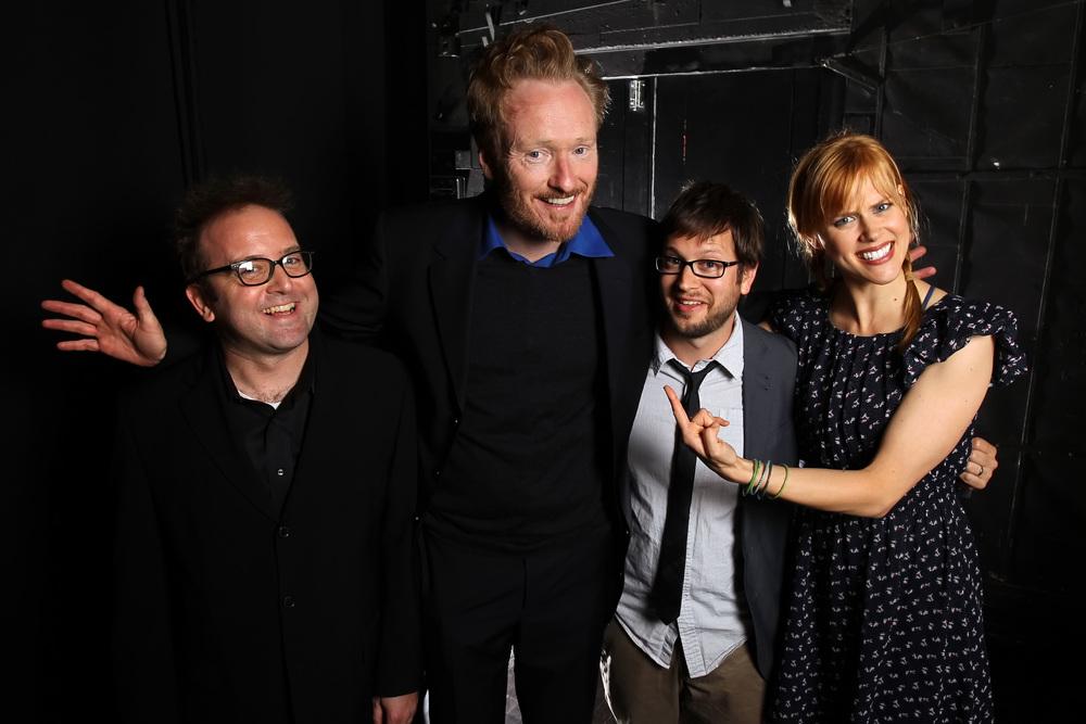 David Owen, Conan O'Brien and Janet Varney. Photo by Jakub Mosur.