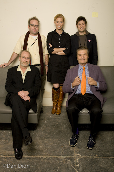 David Owen, Martin Mull, Fred Willard and Janet Varney. Photo by Dan Dion.
