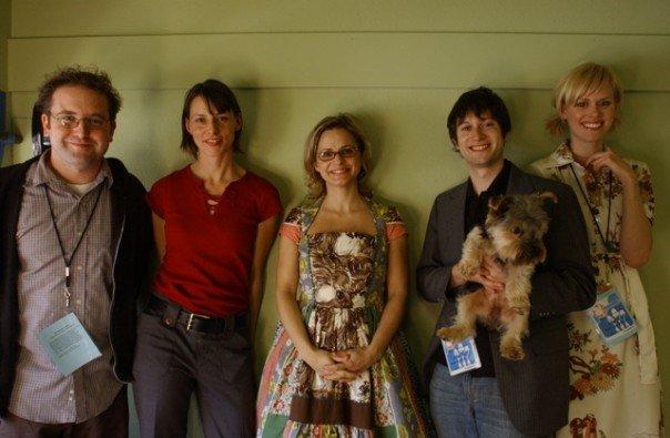 David Owen, Beth Lisick, Amy Sedaris and Janet Varney. Photo by Jakub Mosur.