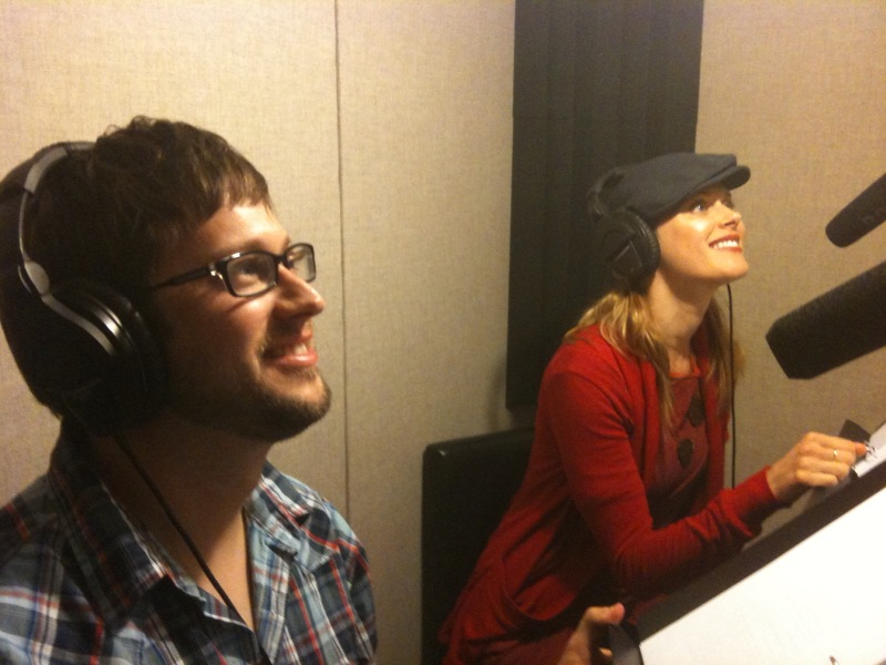 "In the booth with Janet Varney recording ""The Lost Boys"""