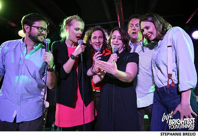 Theme Park with Cole Stratton, Janet Varney, Ian Brennan, Rachel Dratch, Michael Hitchcock and Jessica Makinson at Bentzen Ball