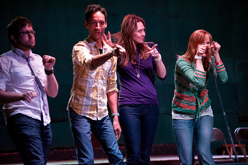 Theme Park with Cole Stratton, Danny Pudi, Jessica Makinson and Janet Varney at Bridgetown Comedy Festival