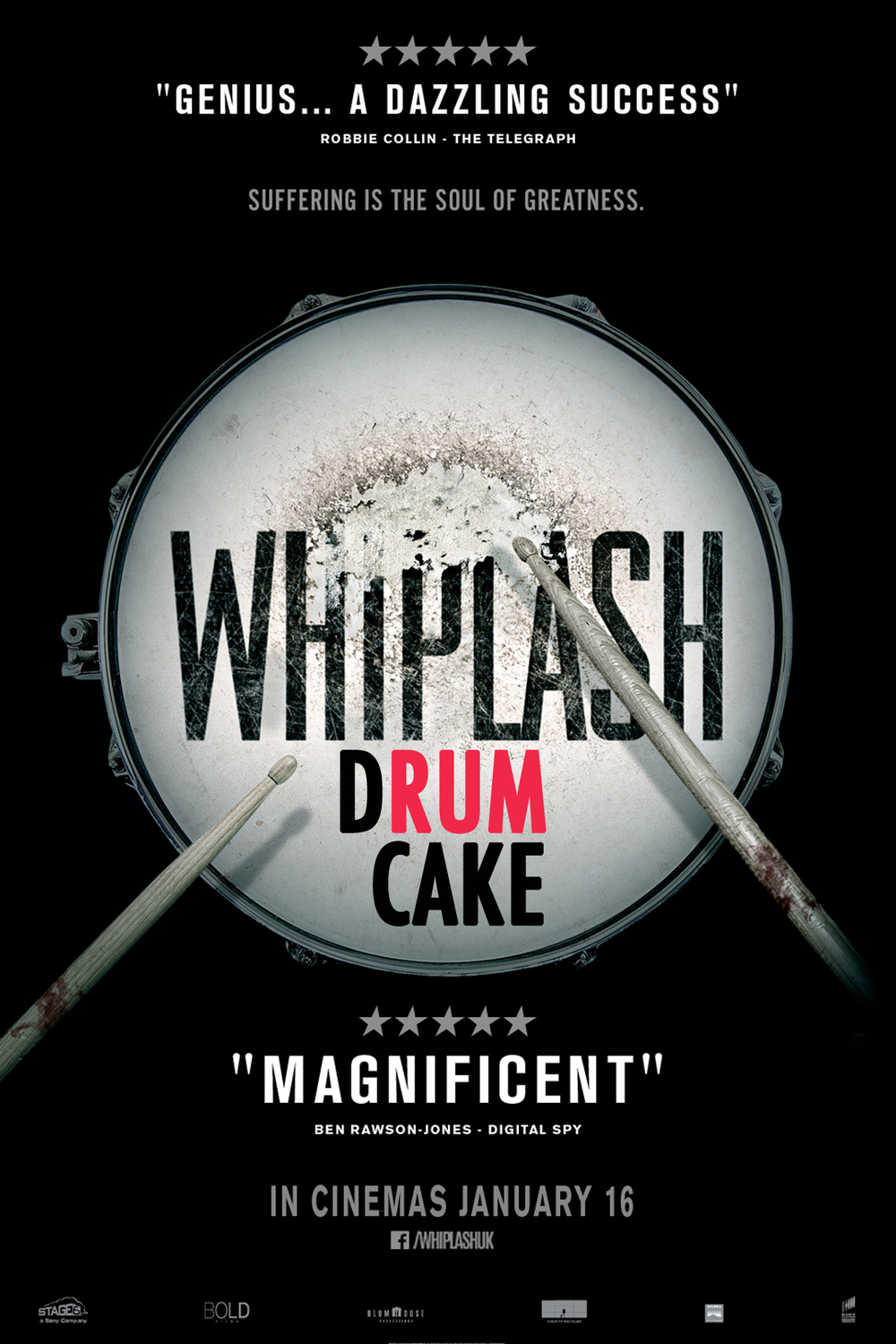 Whiplash Drum Cake