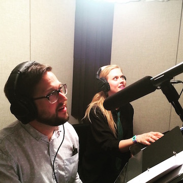 In the booth with Janet Varney recording Dreamscape!