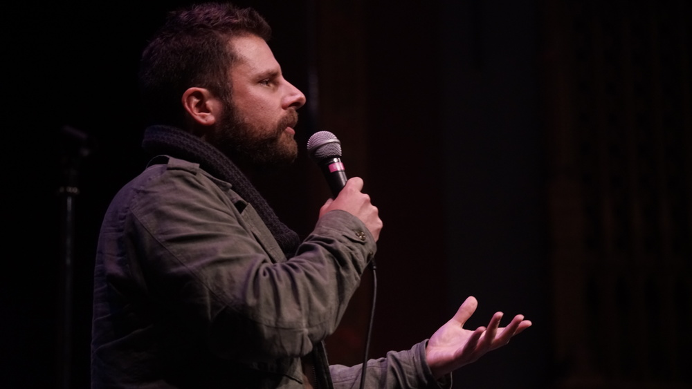 Guest monologist James Roday at Theme Park at SF Sketchfest 2016. Photo by Steve Agee.