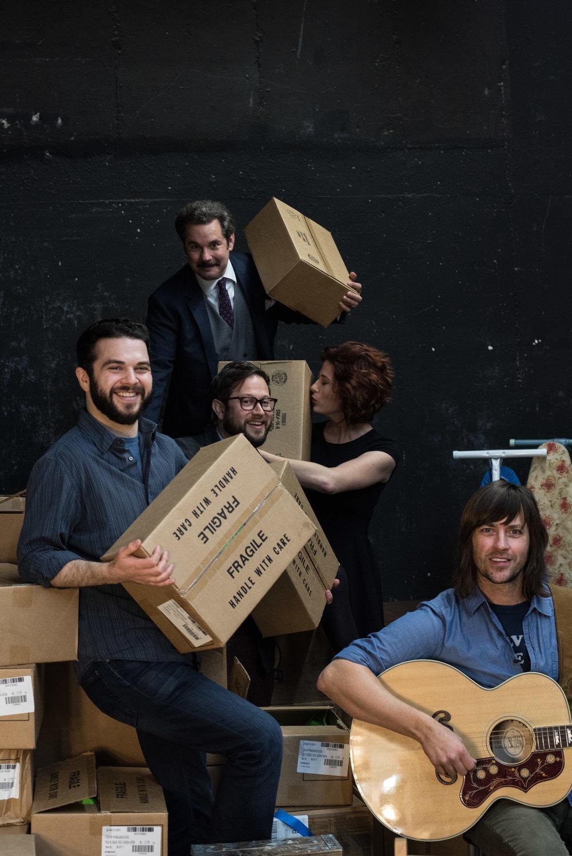Samm Levine, Paul F. Tompkins, Vanessa Ragland and Rhett Miller. Photo by Deira Bowie.