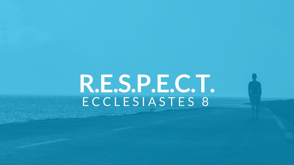 How do we show respect for authority? Pastor Pilgrim teaches Ecclesiastes 8 at Shoreline Church.