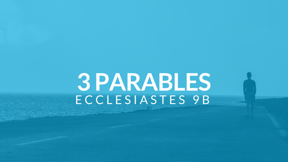 "Life is not a fairy tale. There aren't always happy endings to our lives. Solomon presents 3 parables that remind us that ""under the sun"" it doesn't always end in a comedy. Pastor Pilgrim Benham teaches from Ecclesiastes 9:11-10:7."