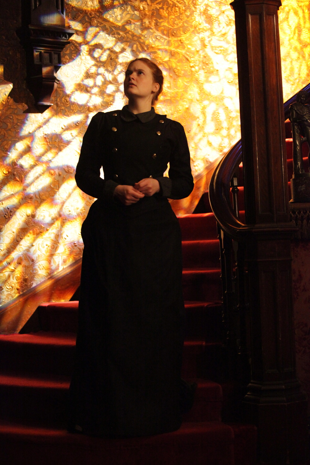 Anna Waldron in The Turn of the Screw at the Gibson House Museum. Photo by Kyler Taustin.