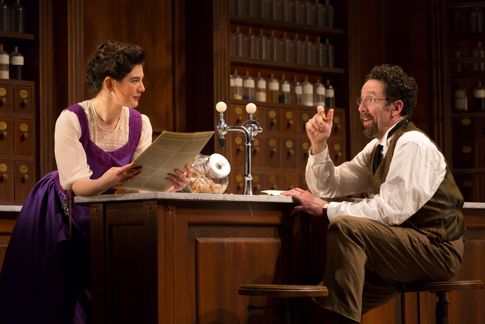 Christina Pumariega and Christopher Tarjan in the Huntington Theatre Company's production of Melinda Lopez's BECOMING CUBA.  March 28 - May 3, 2014 at South End / Calderwood Pavilion at the BCA. huntingtontheatre.org. Photo T. Charles Erickson