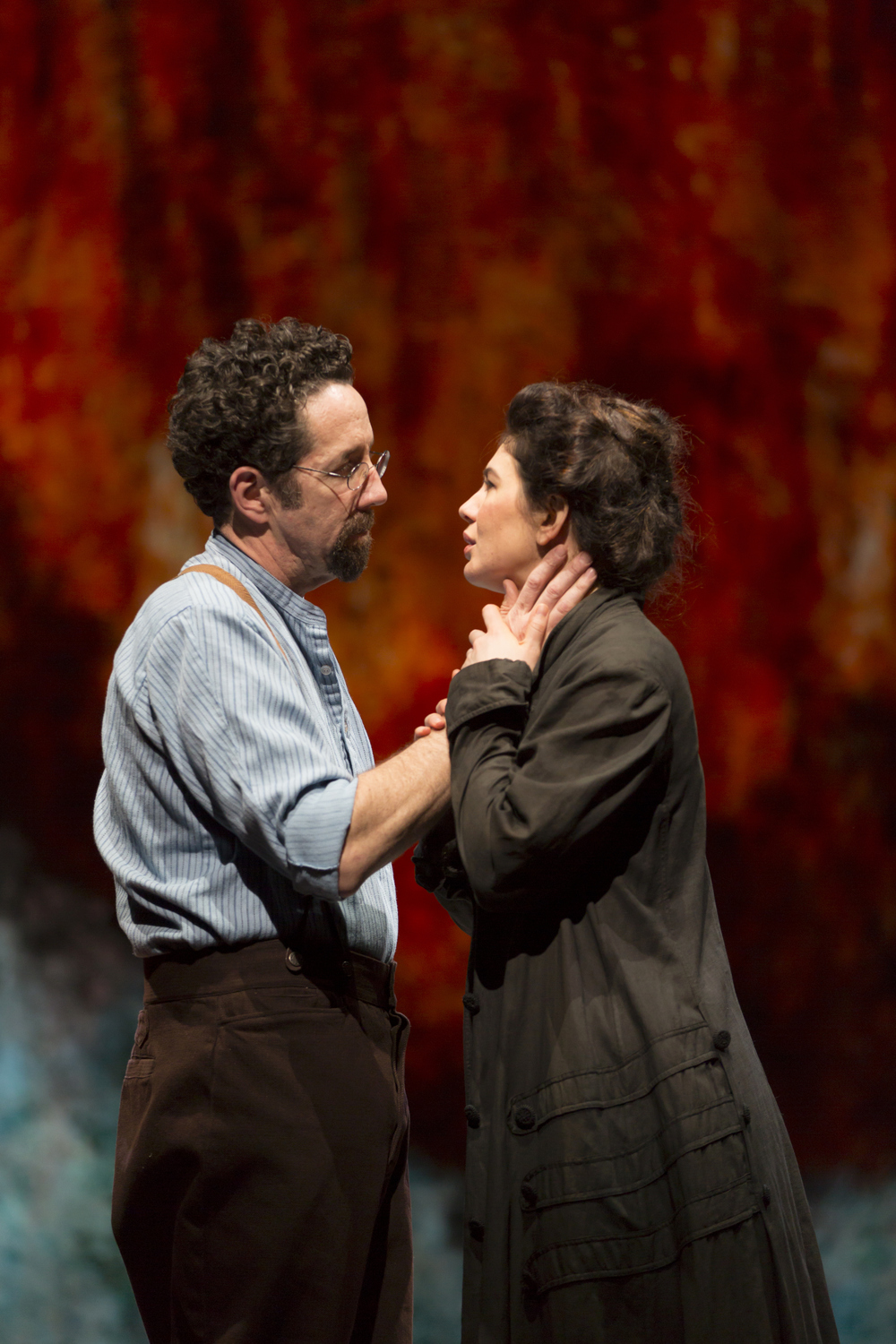 Christopher Tarjan and Christina Pumariega in the Huntington Theatre Company's production of Melinda Lopez's BECOMING CUBA.  March 28 - May 3, 2014 at South End / Calderwood Pavilion at the BCA. huntingtontheatre.org. Photo T. Charles Erickson
