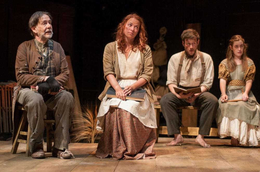 Kevin Fennessy, Sarah Elizabeth Bedard, Greg Maraio, and Margaret Clark in  Translations . Photo: Paul Cantillon / LIDEC Photo