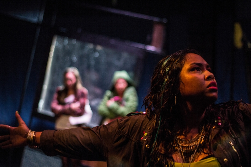 Stephanie Recio, Pearl Shin (Girl 2), and Ally Dawson in  The Chronicles of Kalki . Photo: Paul Fox