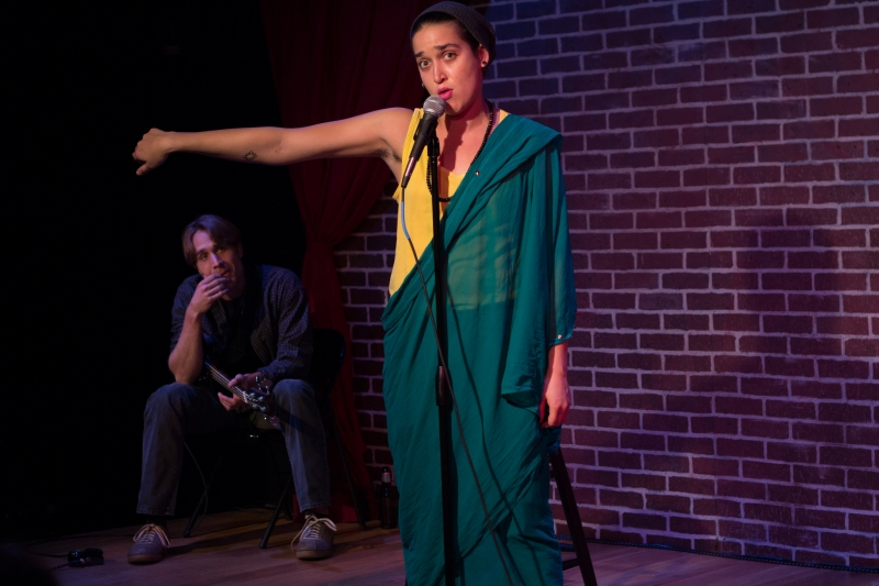 Casey Preston and Aila Peck in   Brahman/i: A One Hijra Stand-Up Comedy Show  .   Photo: Paul Fox