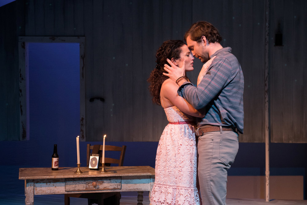 Jennifer Ellis and Christiaan Smith in  The Bridges of Madison County , presented by SpeakEasy Stage Company. Photo: Glenn Perry Photography