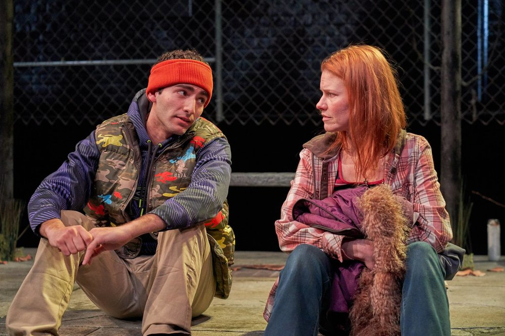 Adrian Abel Amador and Kate MacCluggage in  Ironbound  at the Kitchen Theatre Company. Photo: Dave Burbank
