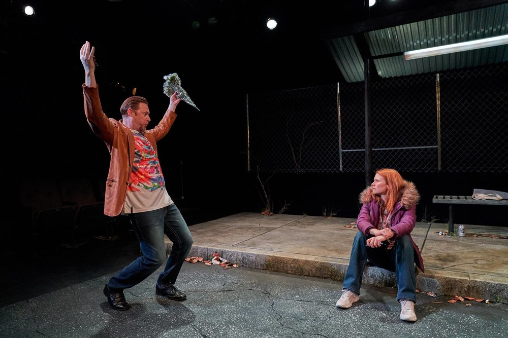 Austin Jones and Kate MacCluggage in  Ironbound  at the Kitchen Theatre Company. Photo: Dave Burbank
