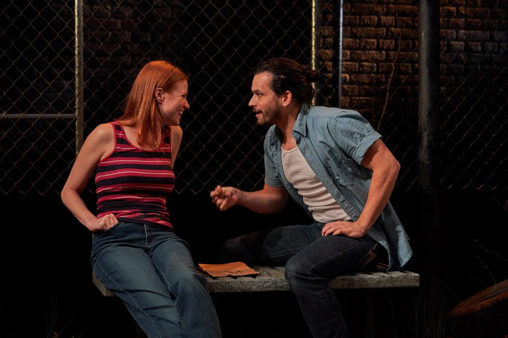 Kate MacCluggage and Marcin Pawlikiewicz in  Ironbound  at the Kitchen Theatre Company. Photo: Dave Burbank