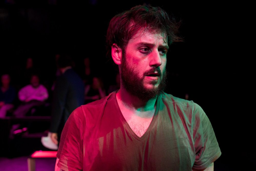 Greg Maraio in Walt McGough's  Brawler  at the Kitchen Theatre Company, directed by M. Bevin O'Gara. Photo: Dave Burbank