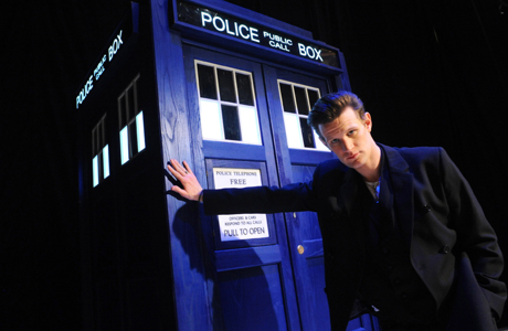 Doctor Who star Matt Smith and his Tardis (Courtesy BBC America)