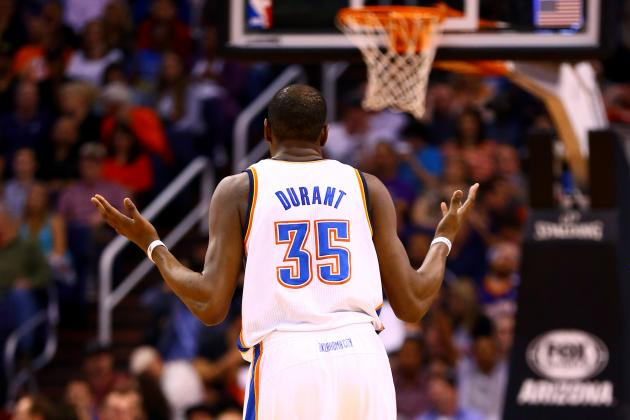 Oklahoma City Thunder's Kevin Durant (Courtesy Bleacher Report)