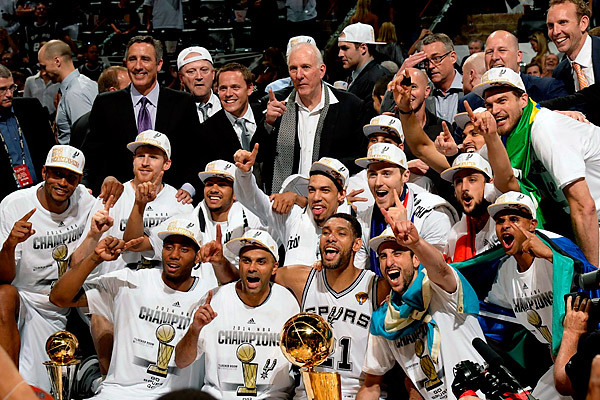 The 2014 NBA Champion San Antonio Spurs (Courtesy nba.si.com)