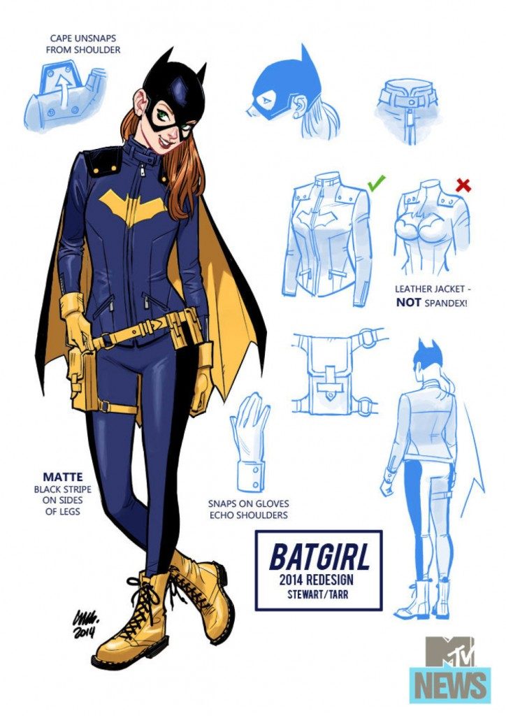 A look at the new Batgirl revamp from top to bottom thanks to MTV. Note the more sensible take on a few things? (Courtesy MTV)