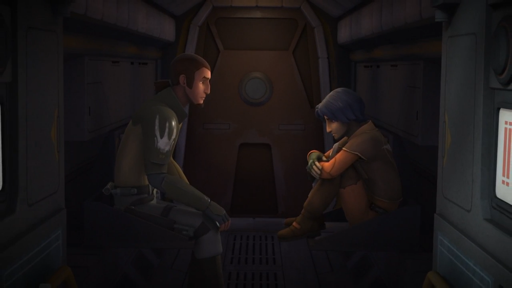 Obi-Wan and his on the edge of giving into hatred Padawan Learner Anakin... wait... just kidding, that's Kadan and Ezra from Rebels. JK.