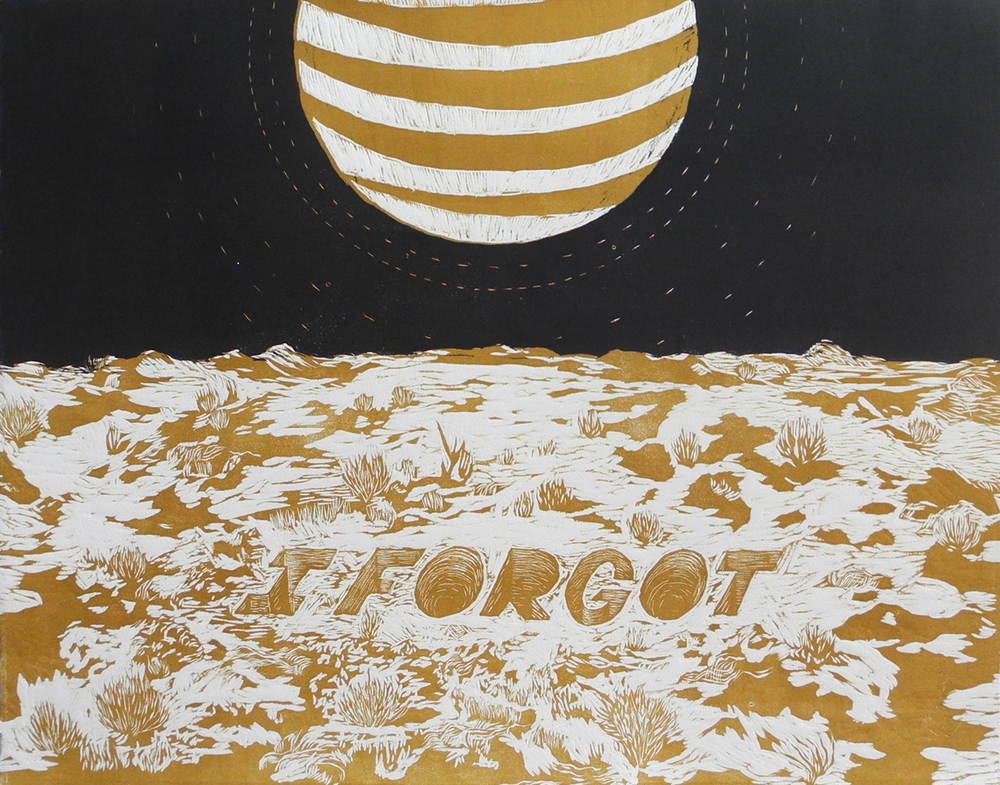 I Forgot,2015 Reduction Woodcut Click the image above to see more new work.