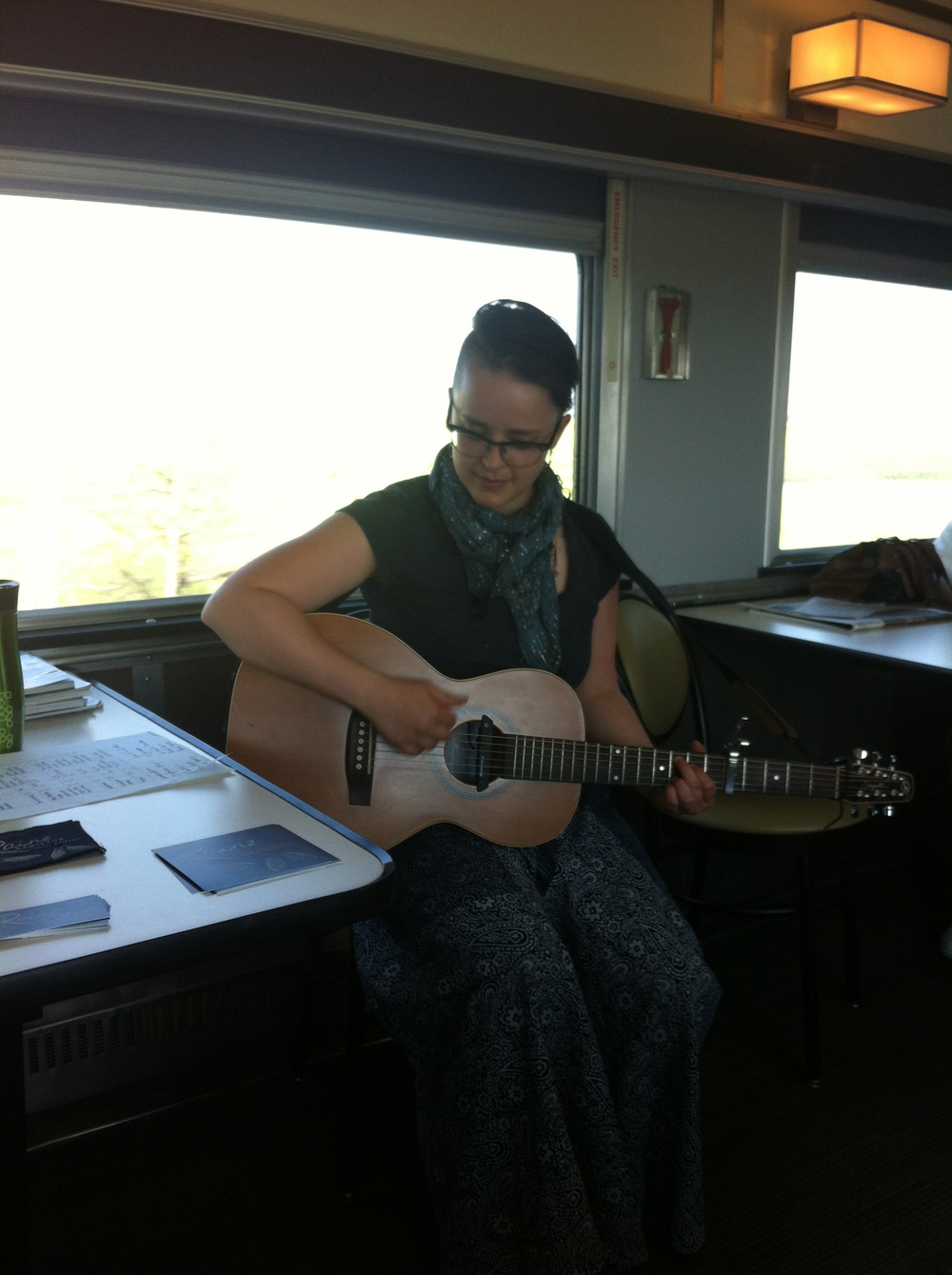 Making music on the train :)