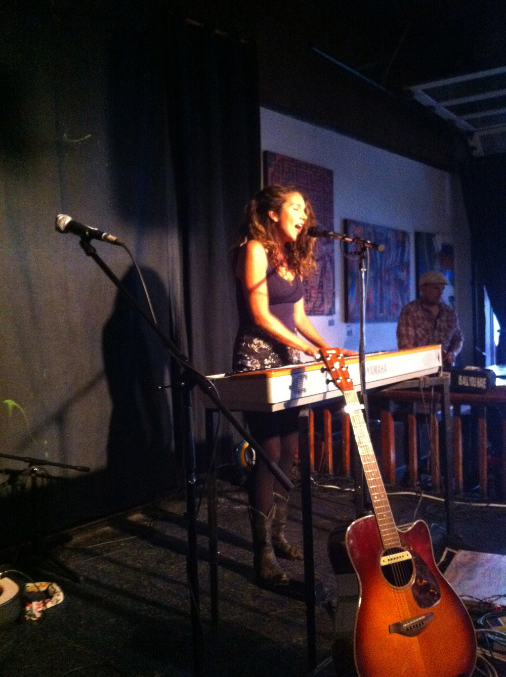 The fantastic Brittany Willacy!  - Cafe Deux Soleils, Vancouver BC