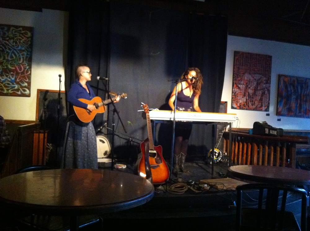 The fantastic Brittany Willacy and myself, rocking hard!  - Cafe Deux Soleils, Vancouver BC