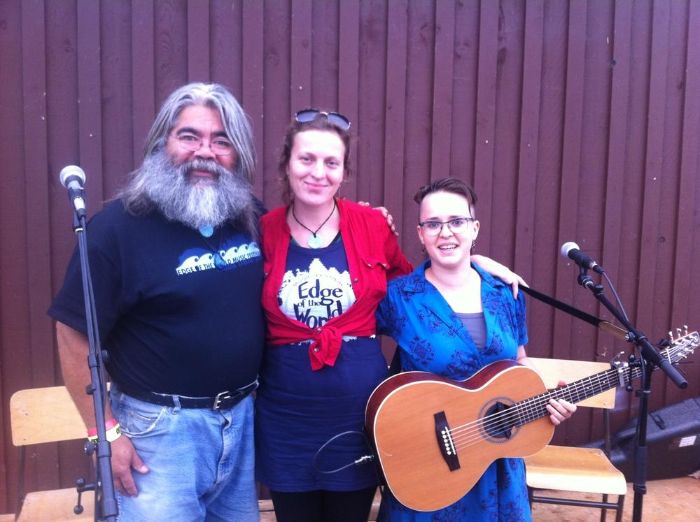 Edge of the World Festival, Workshop stage  With the fantastic Doug Koyama and Thereza Tomek!  - Haida Gwaii, BC