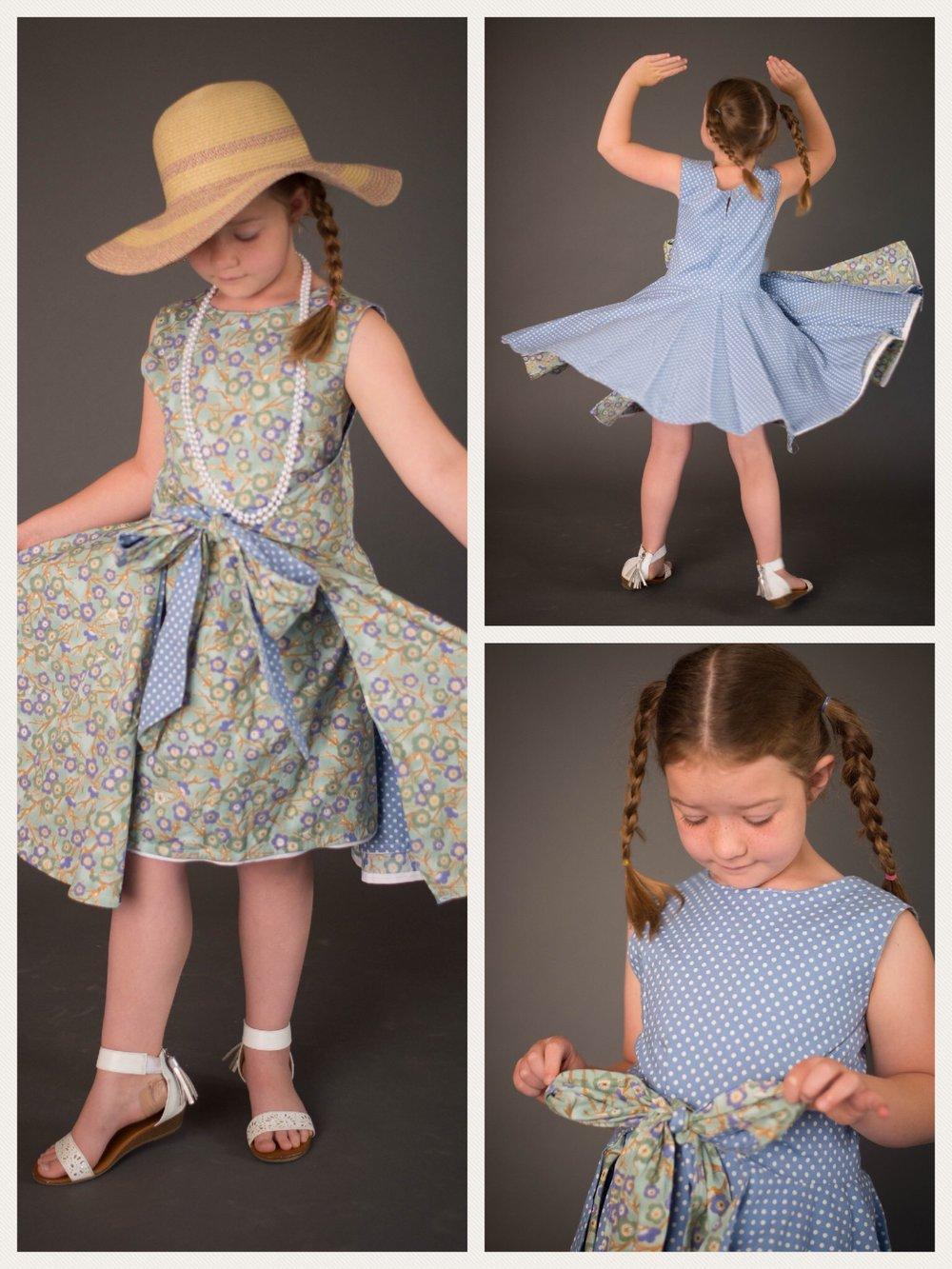 REVERSIBLE GIRLS DRESS