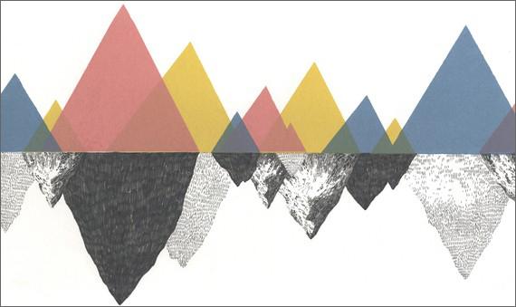 Mountain illustration by Jamie Mills