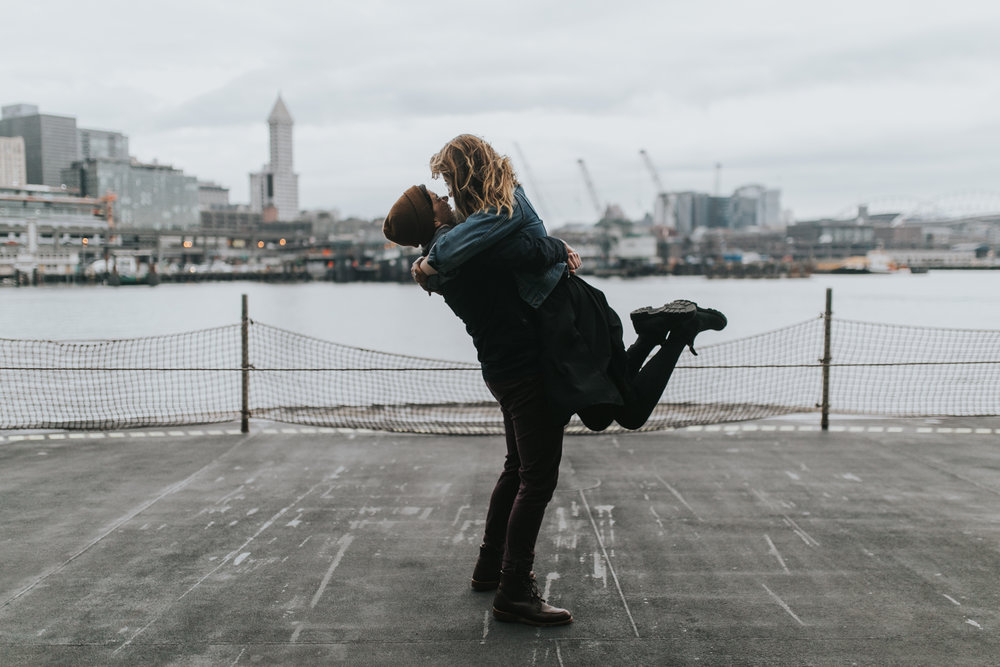 Same Sex Couple Seattle Engagement Photographer
