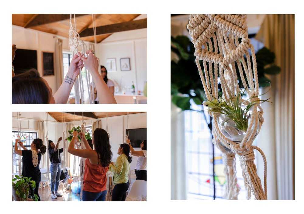 (Macrame photos captured by Karina Richardson)