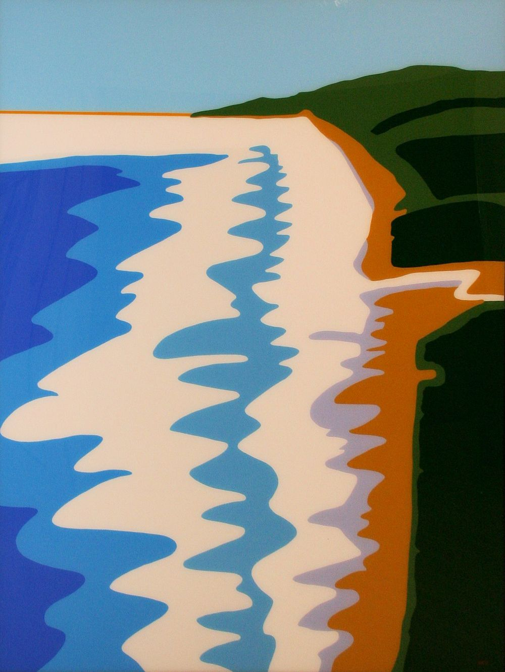 Muriwai, 2013  acrylic on perspex  2000 x 1500 mm