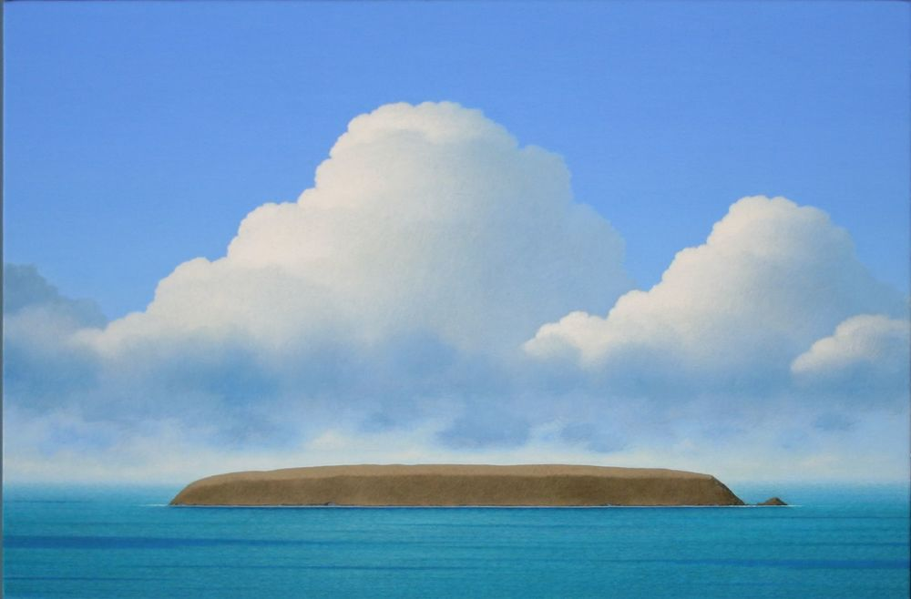 Cloud / Coast 1998   acrylic on board      572 x 385 mm