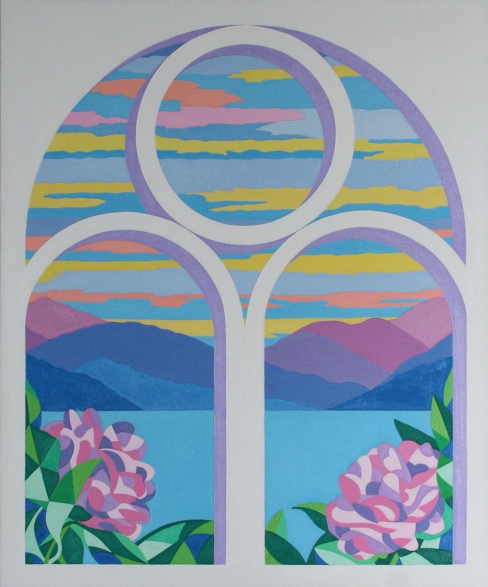 Arched Window                          oil on board 51 x 60 cm, 2012