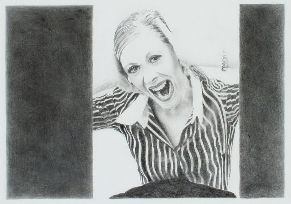 Cushla Donaldson                    1988                                       Graphite on paper                            225 x 320 mm