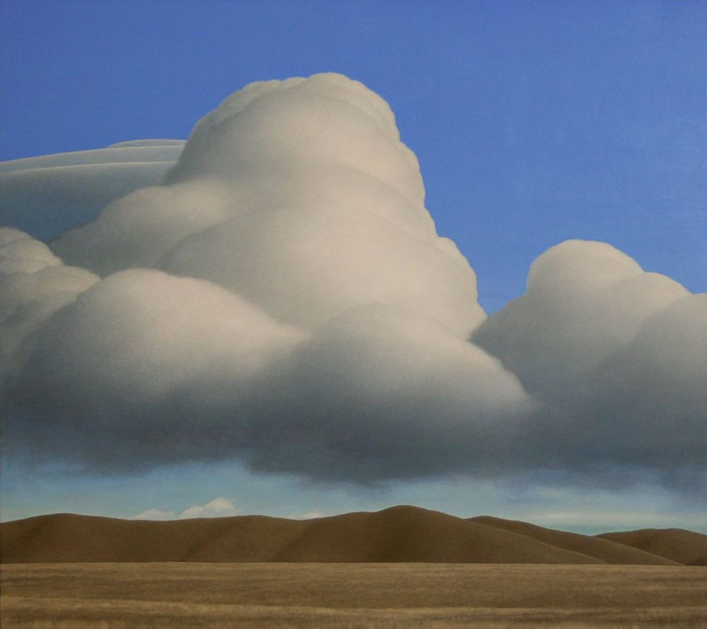 Brent  Wong     Harmonium/massing clouds      Acrylic on board,                               700 x 790 mm