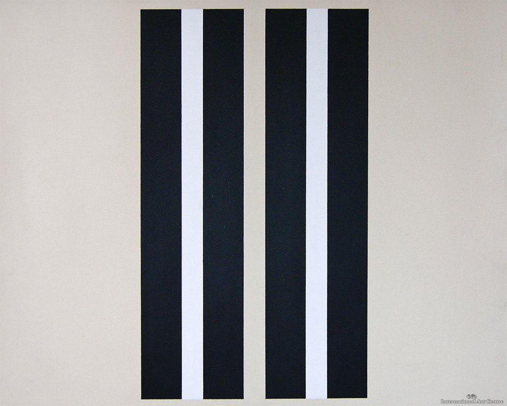 Vertical Bars, 1979 acrylic on canvas, 600 x 480 mm SOLD