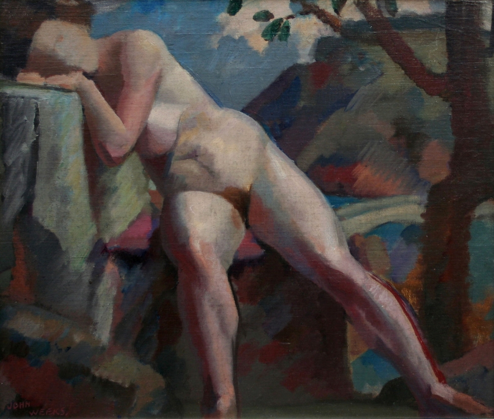 Study for Composition: Nude   oil on board, 480 x 580 mm  POA