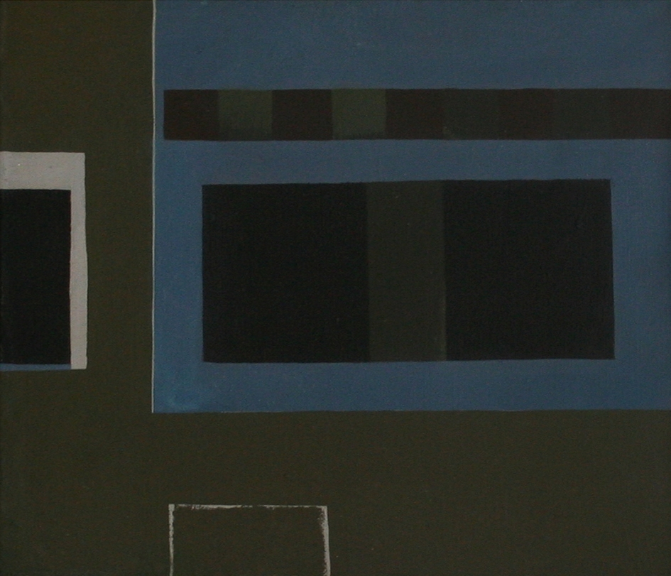 Soho Square, London,  1963  acrylic on canvas, 520 x 600 mm