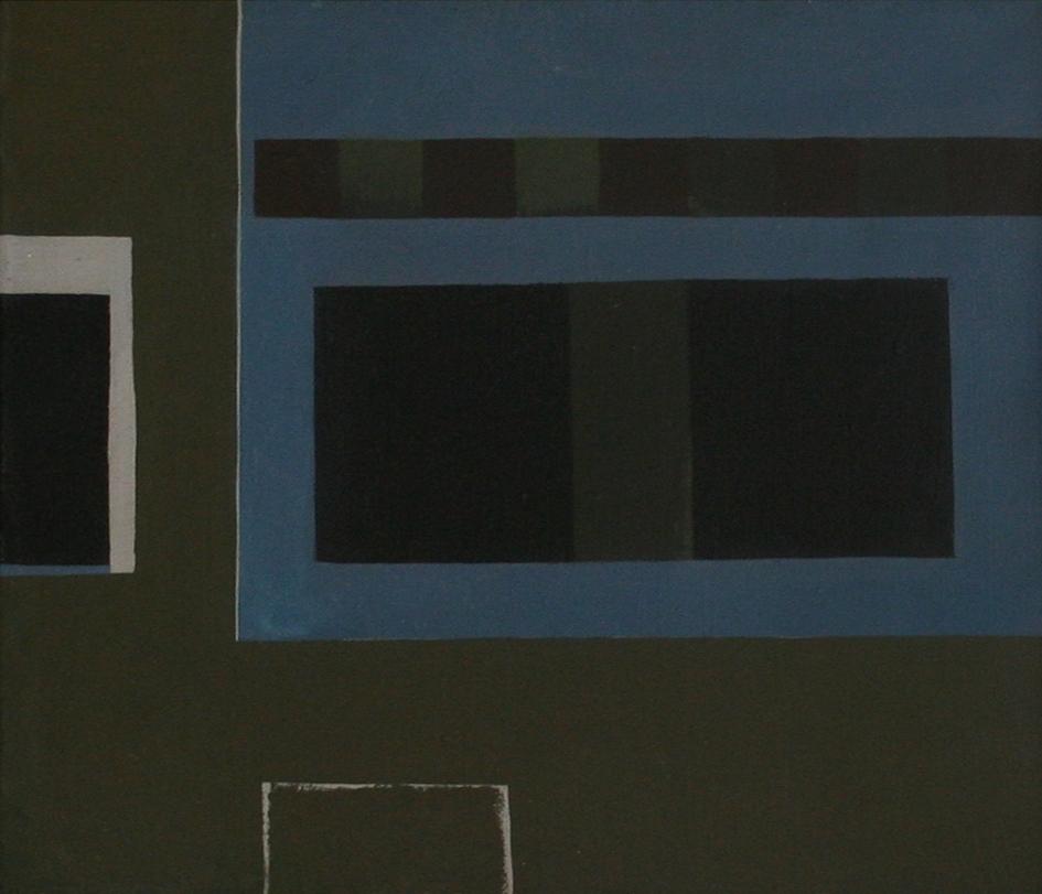 Soho Square, London, 1963  acrylic on canvas, 520 x 600 mm