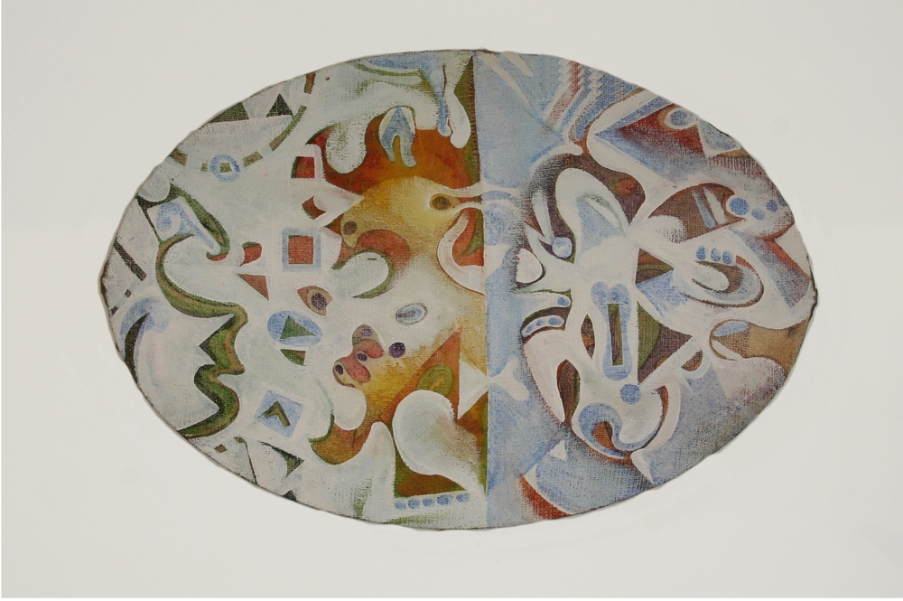 Cloud Forms,  1970  oil on jute, 520 x 780 mm