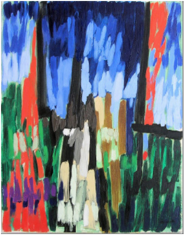 Painting no 7 (Landscape), 1959 oil on board, 610 x 480 mm