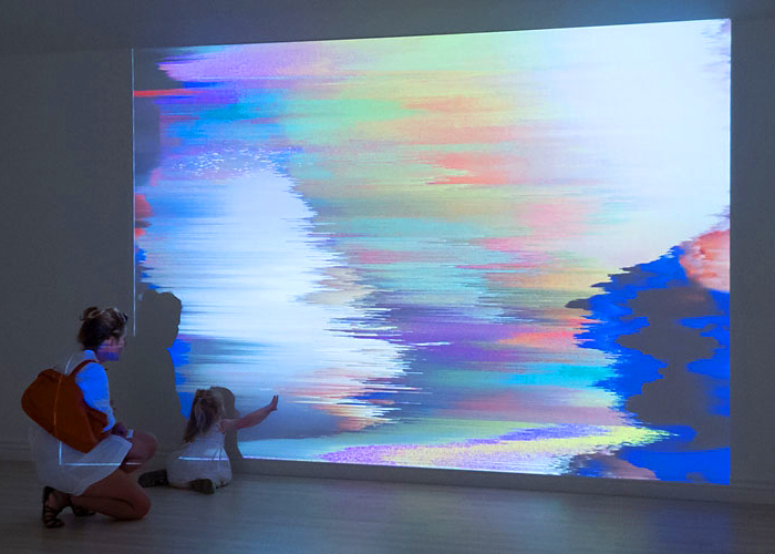 04/02/2014, Ollie Lucas, Digital Landscapes,  Install in Pierre Peeters Gallery, Parnell,  photo courtesy of artsdiary.co.nz